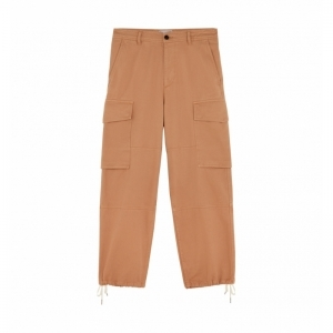COTTON WORKER FIT TROUSERS logo