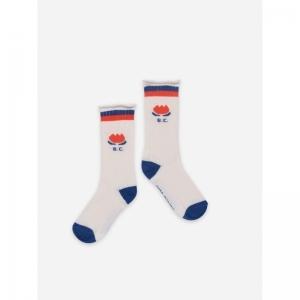 Chocolate Flower Long Socks logo