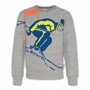 c-neck sweater ski logo